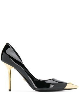 Versace two-tone pointed pumps - Black