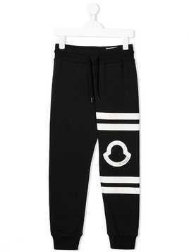 Moncler Kids logo track trousers - Black
