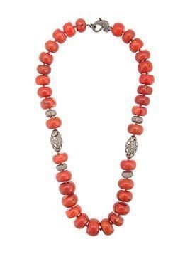 Loree Rodkin coral Maharajah beaded necklace - Red