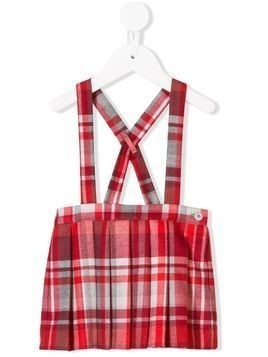Il Gufo check dungaree skirt - Red