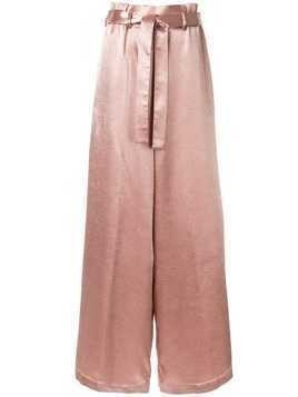 Osman belted wide leg trousers - Pink