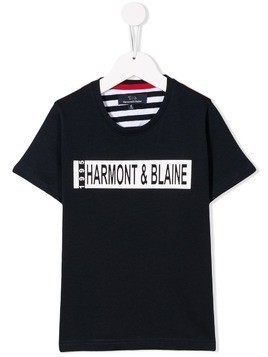 Harmont & Blaine Junior logo print T-shirt - Blue
