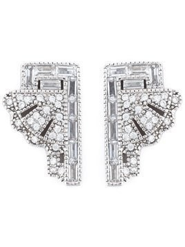 V Jewellery 'Deco Fan' earrings - Metallic