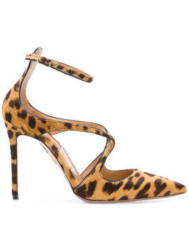 Aquazzura leopard print pumps - Brown