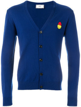 Ami Alexandre Mattiussi Cardigan Smiley Chest Patch - Blue