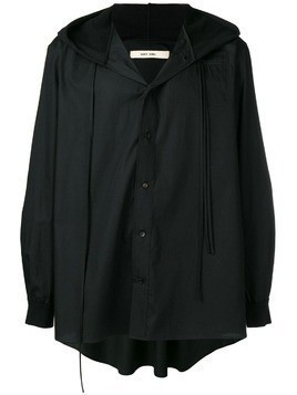 Damir Doma hooded long-sleeve shirt - Black