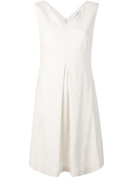 Fabiana Filippi short V-neck dress - Neutrals