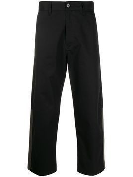 Marni contrast panelled cropped trousers - Black