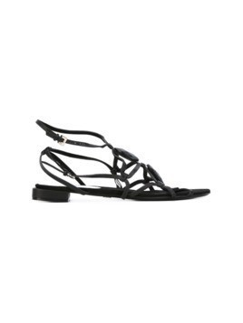 Giorgio Armani Vintage open toe sandals - Black