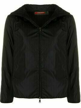Prada Pre-Owned 1990s panelled hooded jacket - Black