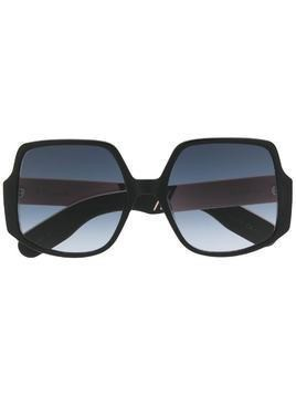 Dior Eyewear oversized gradient sunglasses - Black