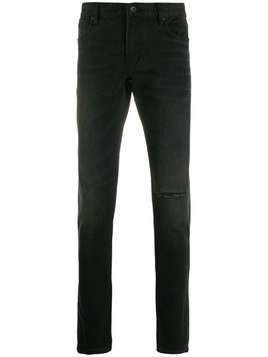 John Varvatos ripped detail trousers - Black