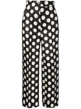 Dice Kayek high-waisted polka dot trousers - Black