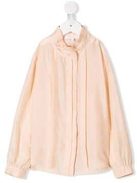 Chloé Kids pleated trim blouse - Pink