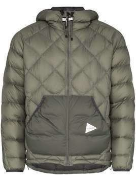 and Wander quilted hooded jacket - Grey