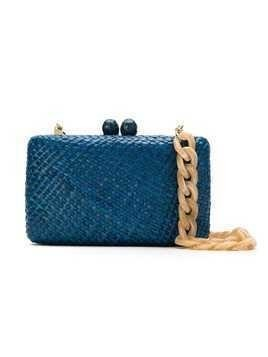 Serpui straw clutch bag - Blue