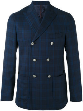 Biagio Santaniello double breasted blazer - Blue