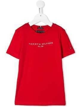 Tommy Hilfiger Junior logo print T-shirt - Red