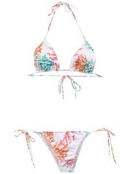 Brigitte printed triangle bikini set - Multicolour
