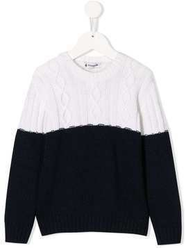 Dondup Kids cable knit jumper - White
