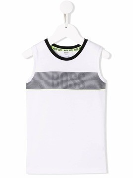 Boss Kids logo vest top - White