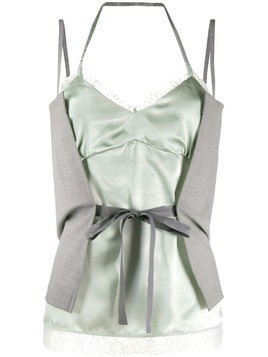 Mm6 Maison Margiela wrap tie lace camisole - Grey