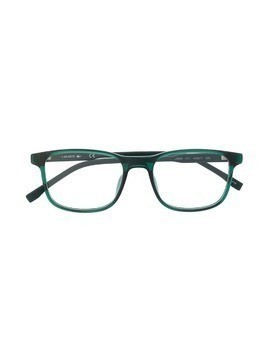 Lacoste Kids square frame glasses - Green