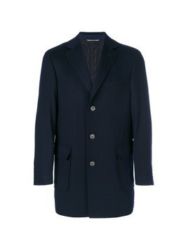 Canali short coat with pocket patch - Blue