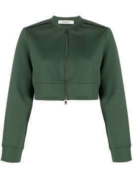 Dorothee Schumacher cropped zipped jacket - Green