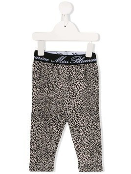 Miss Blumarine leopard print tracksuit bottoms - Brown
