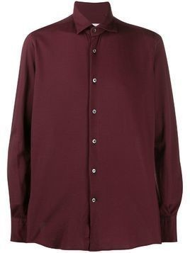 Glanshirt woven long sleeved shirt - Red