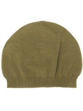 Rick Owens fitted knitted hat - Green