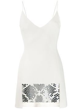 David Koma embellished mini dress - White