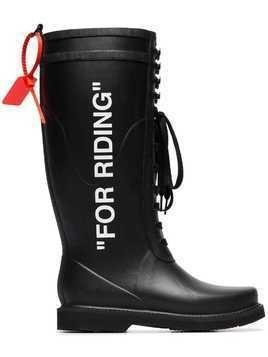 Off-White For Riding Wellington Boots - Black