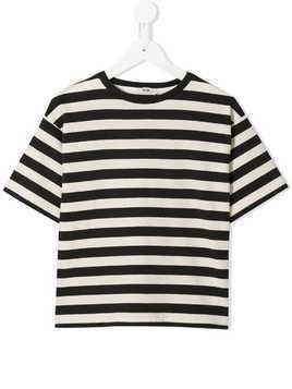 Fith striped T-shirt - Black