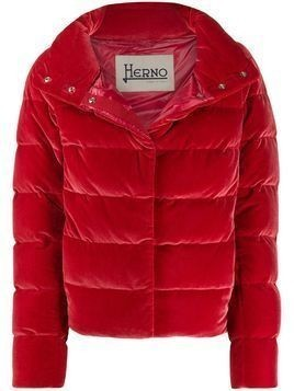 Herno cropped puffer jacket - Red