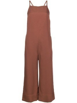 Nomia cropped flared jumpsuit - Brown