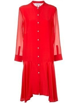 Osman plain shirt dress - Red
