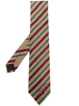 Gucci striped tie - Brown