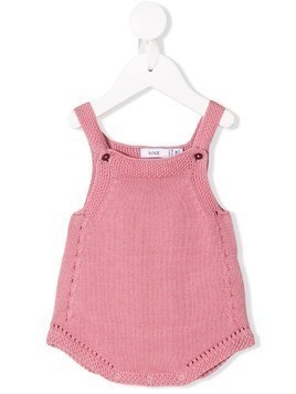 Knot cable knit romper - Pink