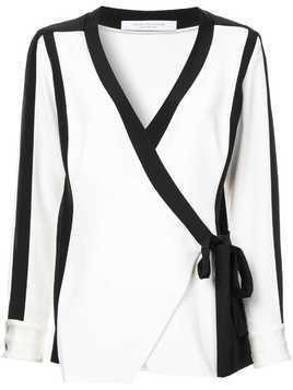 Kimora Lee Simmons silk bomber blouse - White