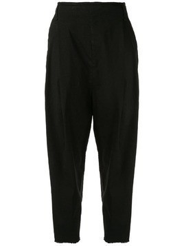 Masnada wide leg tapered trousers - Black