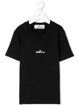 Stone Island Junior logo printed T-shirt - Black