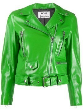 Acne Studios fitted biker jacket - Green