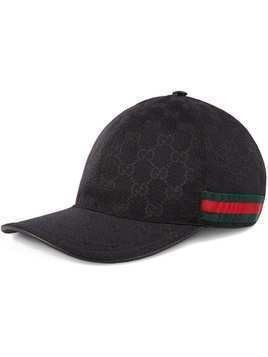 Gucci Original GG canvas baseball hat with Web - Black