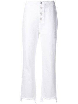 3df773f87a Rta cropped high waisted jeans - White
