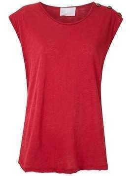 Andrea Bogosian side buttons ribbed tank - Red