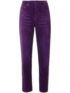 Saint Laurent corduroy trousers - Pink & Purple