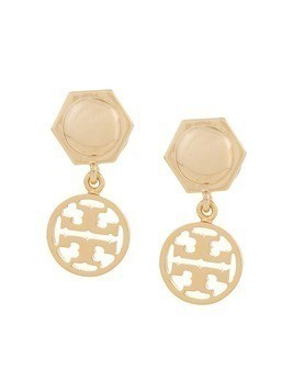 Tory Burch logo drop earrings - Gold