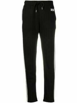 Diesel Alina side stripe detail track pants - Black